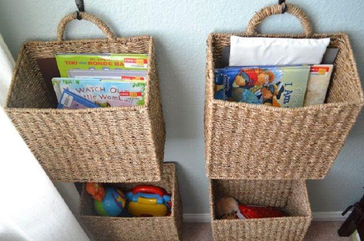 Top 10 Diy Room Decor Life Hacks Top Inspired Hanging Basket Storage Diy Toy Storage Kids Book Storage