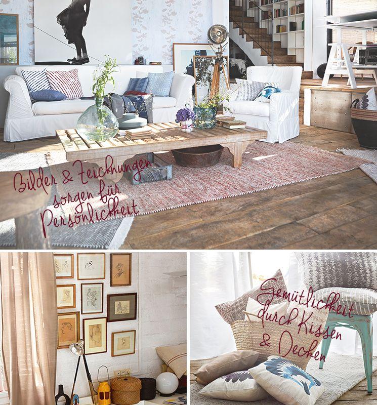 Wohnzimmer dekorieren mit Esprit #benuta #teppich #interior #rugs - moderne deko wohnzimmer