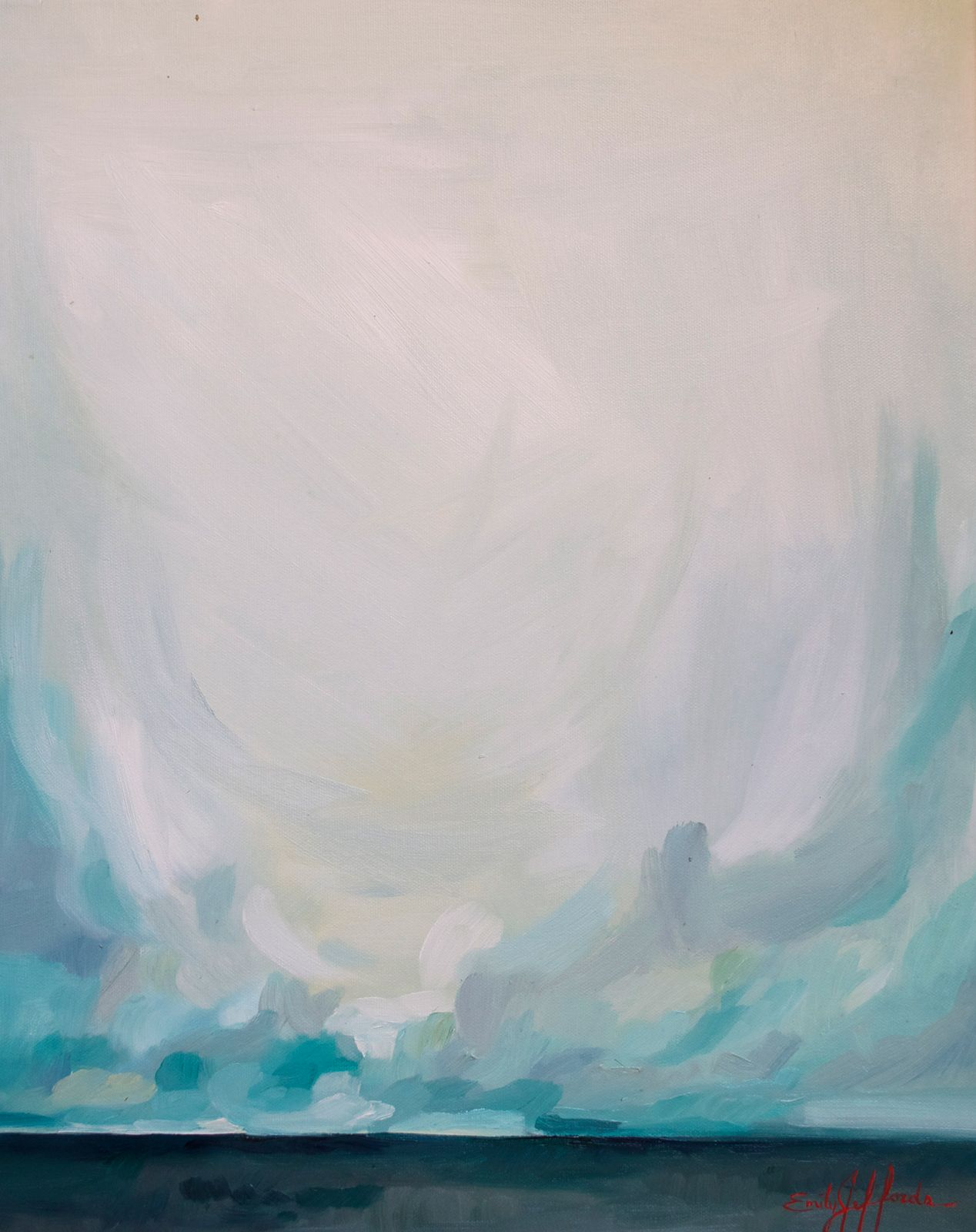 """""""Rain in Spain"""" Painting-a-Day, oil on canvas, by Emily Jeffords — Emily Jeffords Studio"""