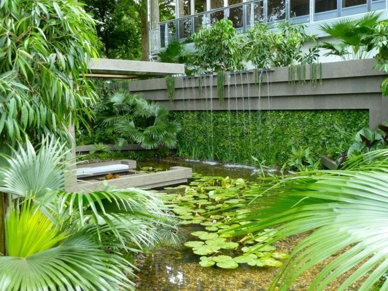 Garden design: vertical gardens, fireplaces, swimming ...