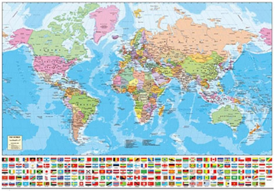Achei puzzles quebra cabes e jogos booksgamesmoviesseries world map with flags jigsaw puzzle by educa gumiabroncs Choice Image
