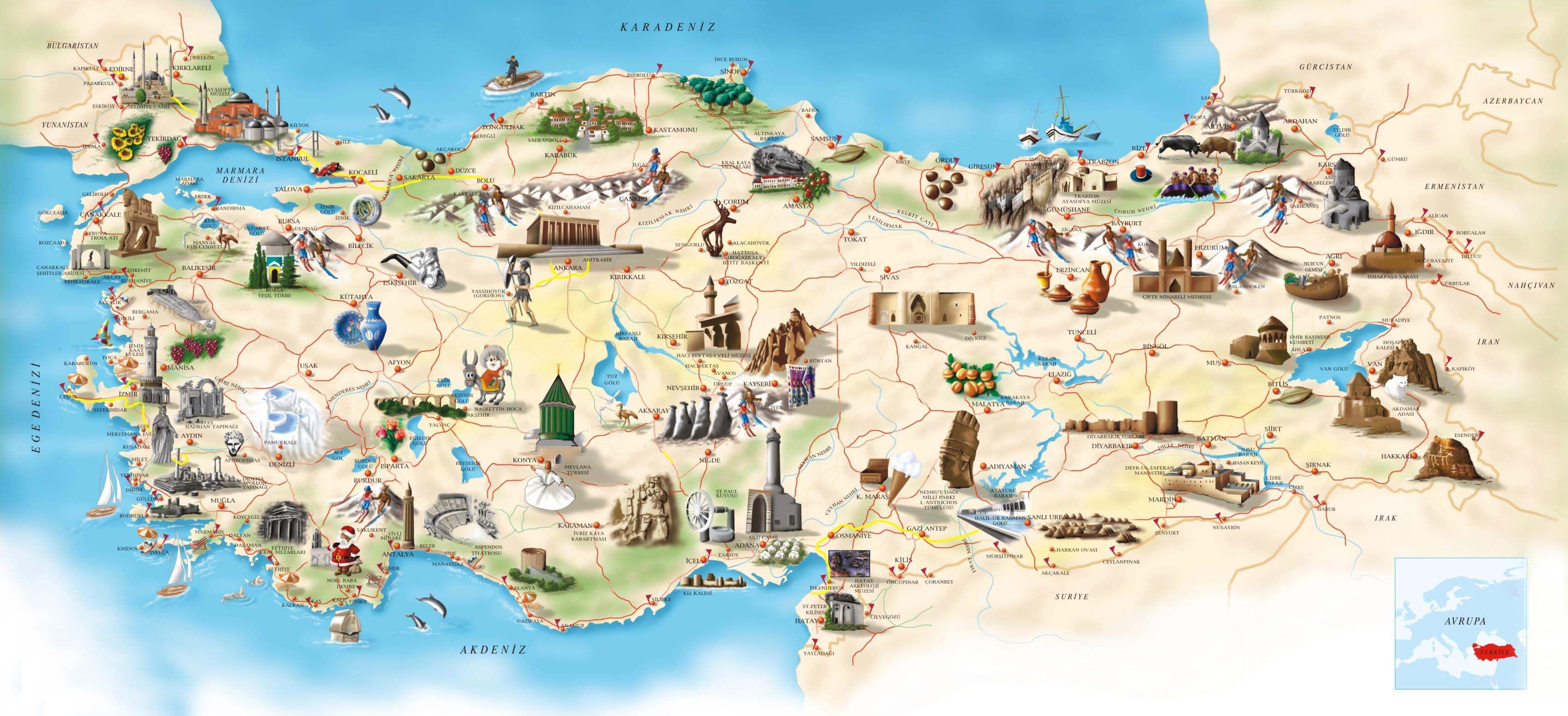 Turkey map What is in Turkey Tour Destinations Pinterest