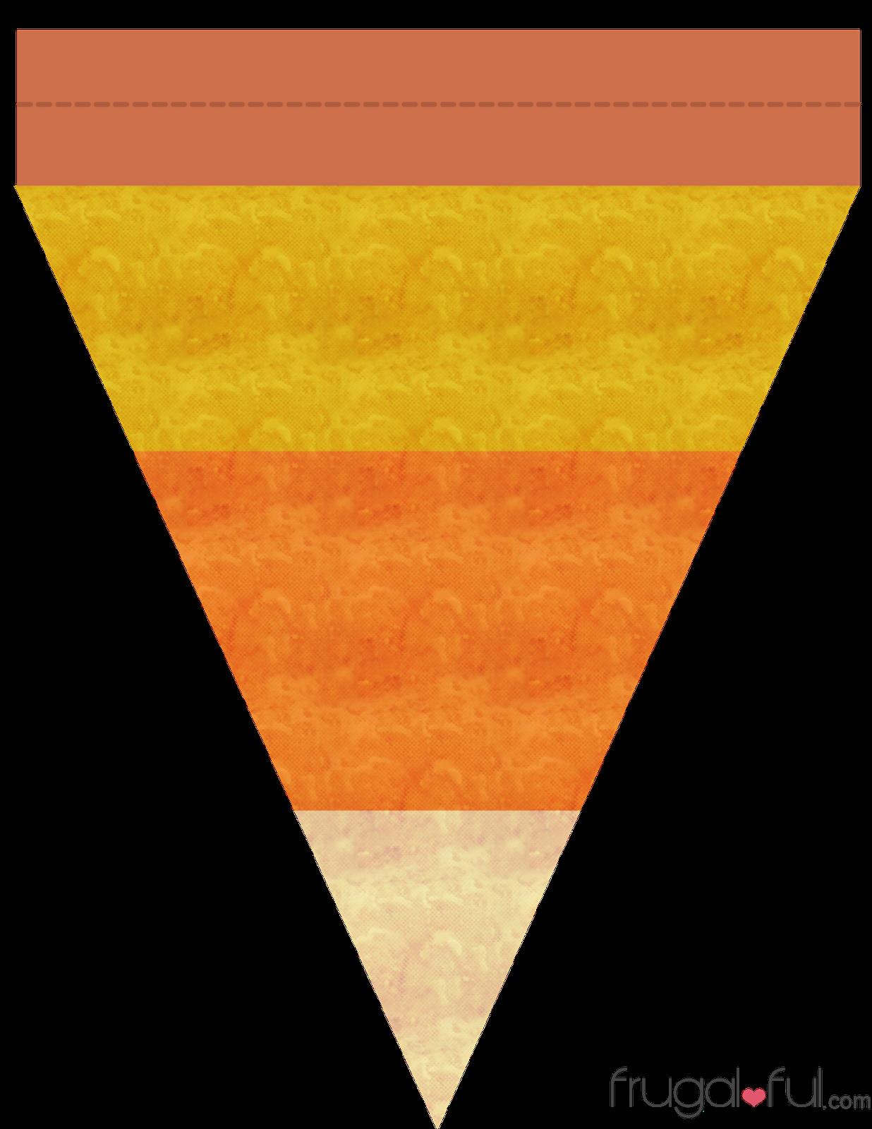 diy free printable halloween triangle banner template frugalfulcom
