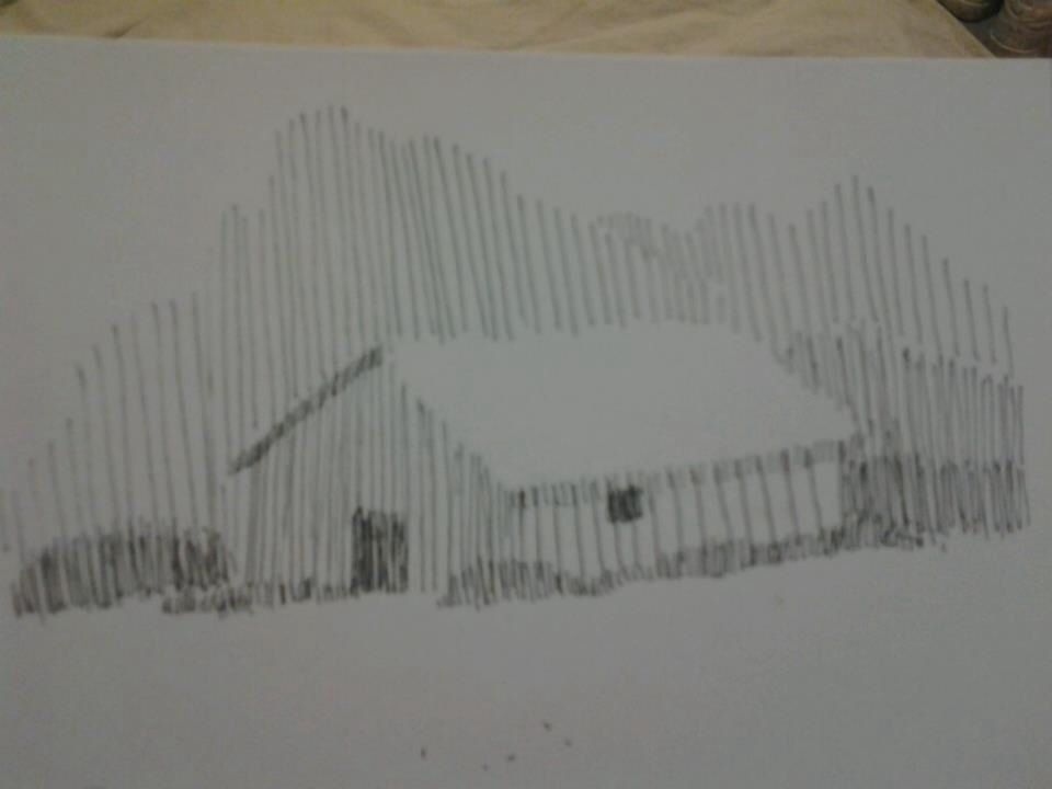 Drawing With No Lines : A drawing from just lines and no outline my artwork pinterest