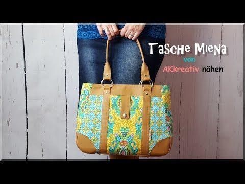 Tasche MIENA von AKkreativ nähen - YouTube | Taschen nähen ...