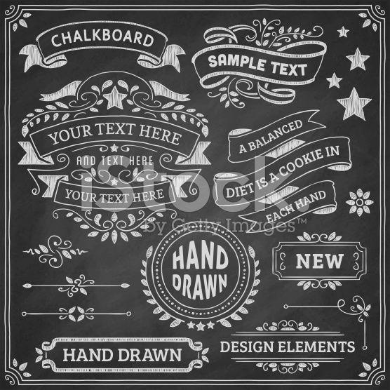Chalkboard Design Elements royalty-free stock vector art   figuras ...