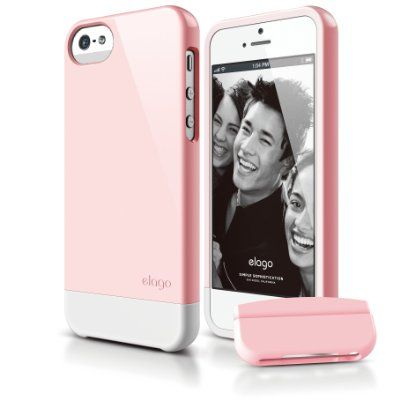 elago S5 Glide Case for iPhone 5 - Lovely Pink + Extra Bottom Clip + Front Protection Film + Back Protection Film included - Full Retail Packaging:Amazon.de:Elektronik