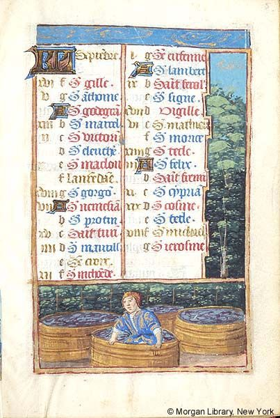 September - Book of Hours - France, Paris, ca. 1500 - MS M.197 fol. 5r