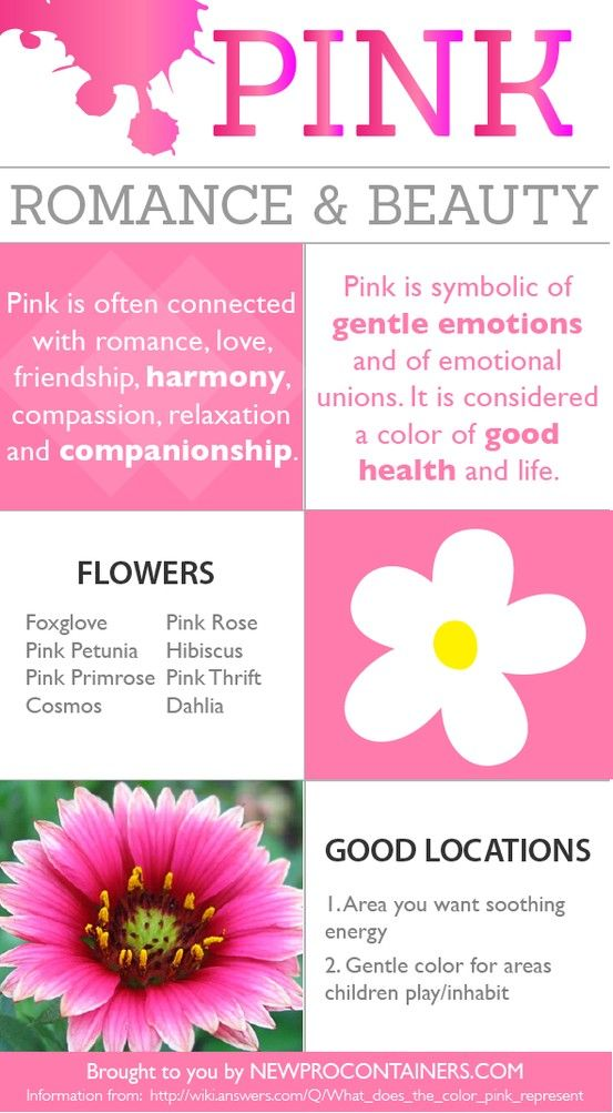 Pink Is Considered The Color Of Good Health And Life Find Out More