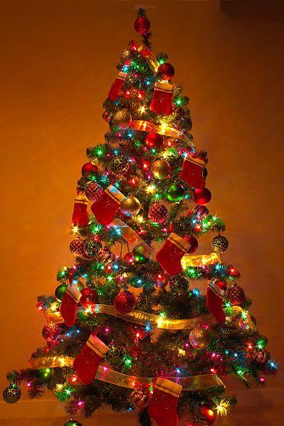 christmas tree - Multicolor Christmas Lights
