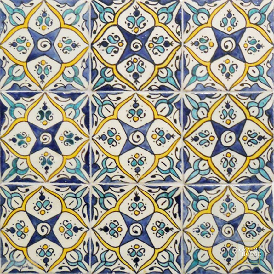 Coquet Multi Mosaic House Hand Painted Tile Mosaic House