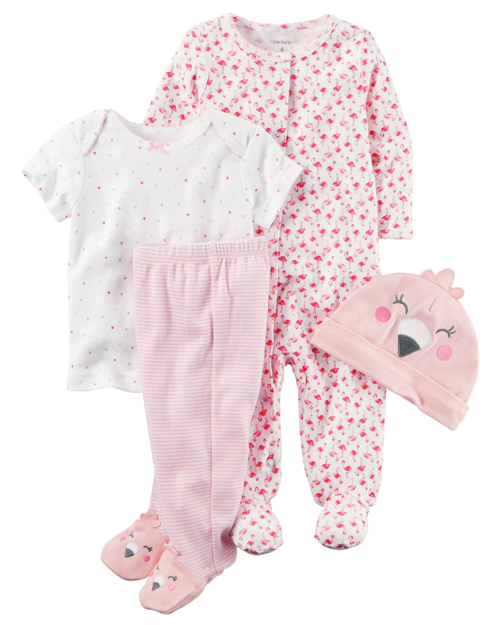 acd3c110c Baby Girl 4-Piece Babysoft Take-Me-Home Set from Carters.com. Shop clothing  & accessories from a trusted name in kids, toddlers, and baby clothes.