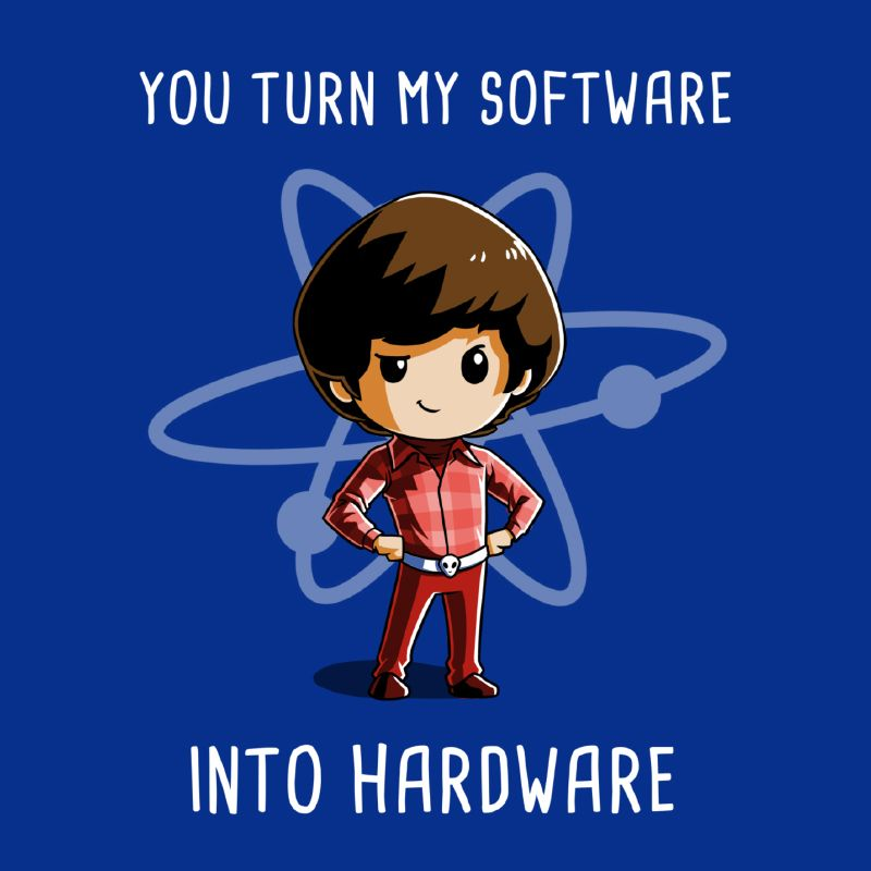 Software Into Hardware - This official The Big Bang Theory t-shirt featuring Howard Wolowitz is only available at TeeTurtle!