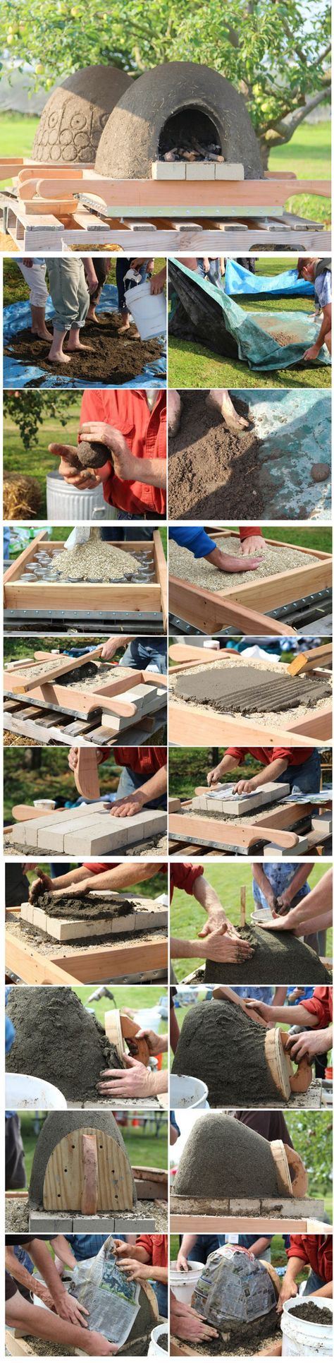 How to build a wood fired earth oven kemence pizza oven