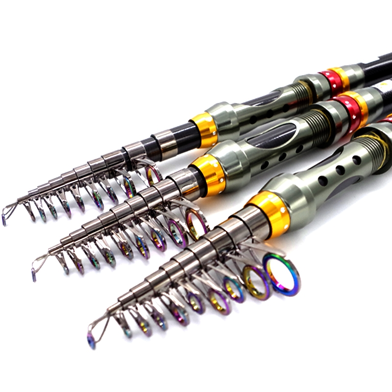 61.06$  Buy now - http://alirtr.worldwells.pw/go.php?t=32474594829 - 2015 Free shipping 3.6m carbon Fishing Rod Combo set sections carp telescopic fishing rod with spinning reel casting rod pcase