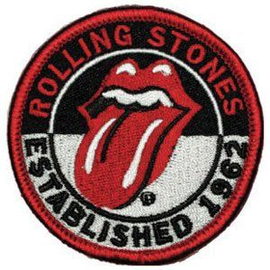 The Rolling Stones Patch Classic Tongue Small Nouveau Officiel Embroidered Iron