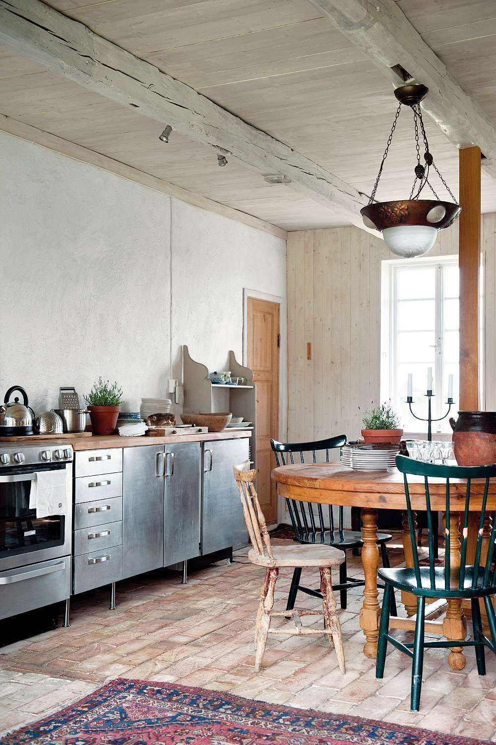 Cuisine en inox id es meubles en acier inoxydable - Meuble cuisine inox ikea ...