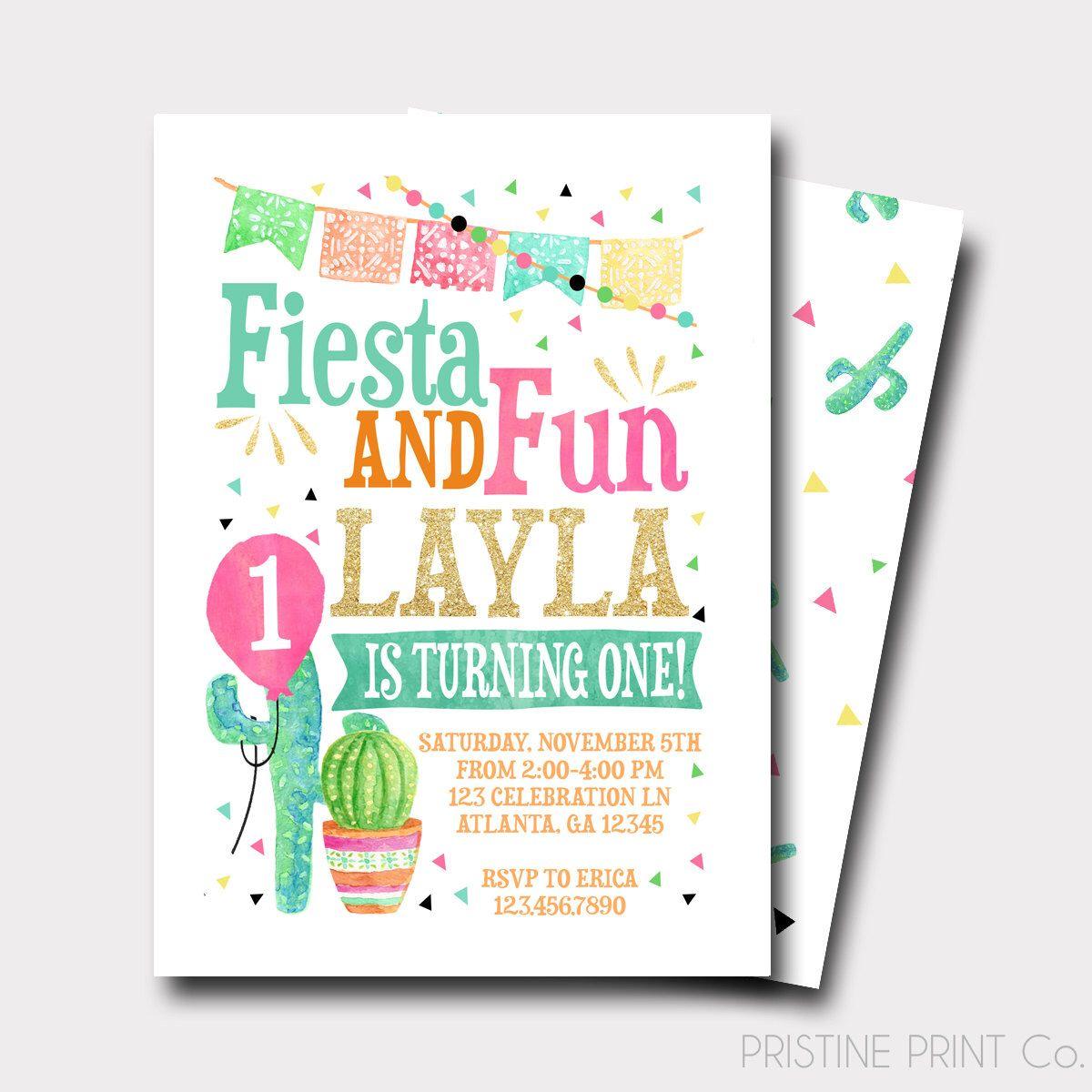 Fiesta Birthday Invitation   Spanish Birthday Invitation   Taco ...