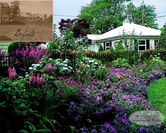 Summer blooming cottage garden