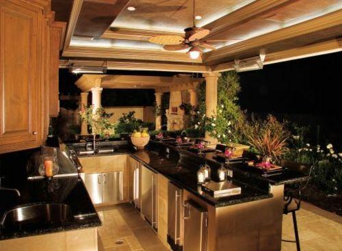 Outdoor Küche mit Grill ausgestattet Outdoor Küche Pinterest