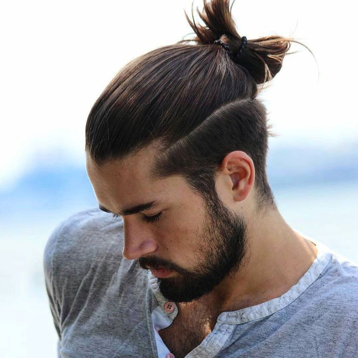 21 Man Bun Styles Hair Pinterest Man Bun Haircuts