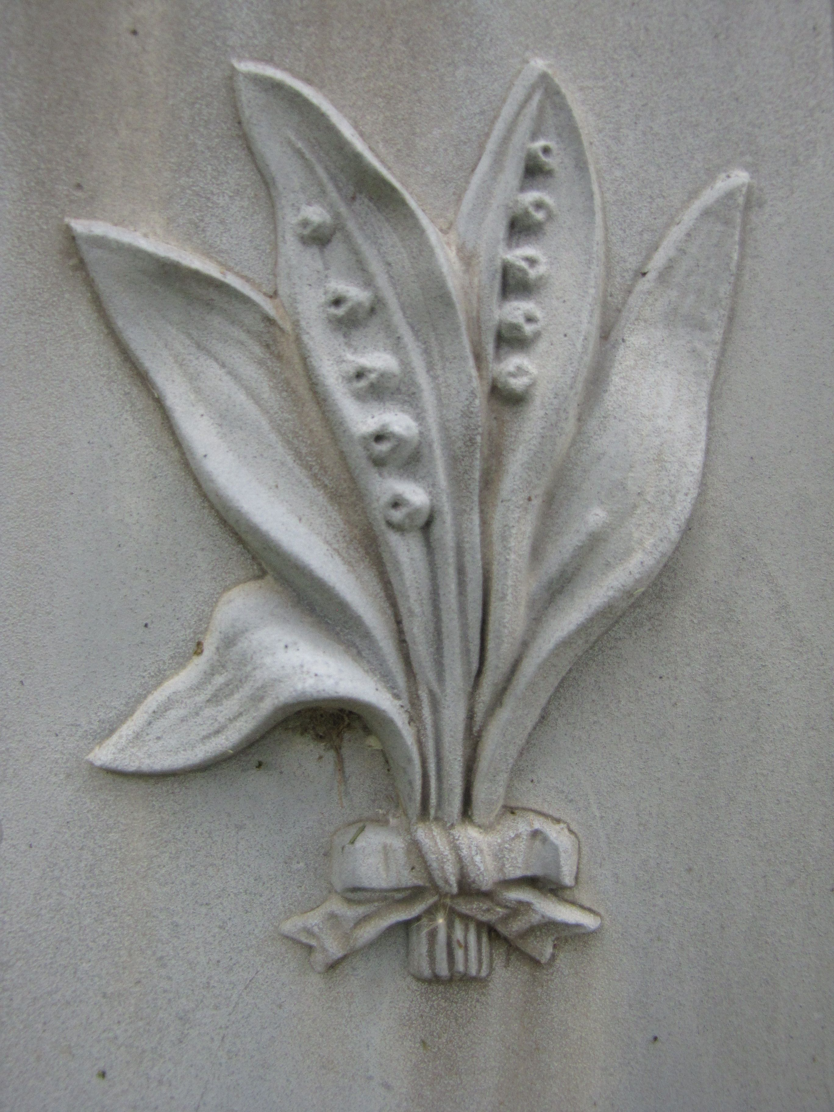 Funerary Symbols. Lily of the Valley. Lily of the valley