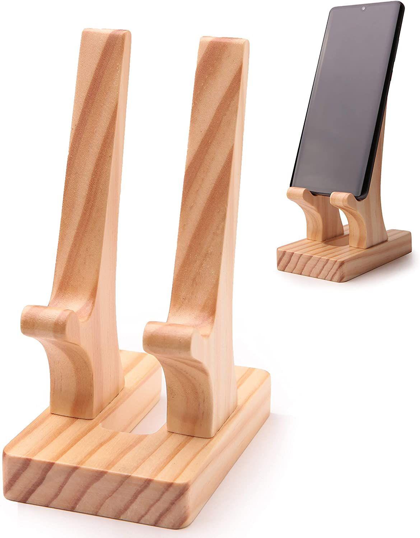 Yonor Wooden Cell Phone Desktop Holder Tablet Stand, Portabl…