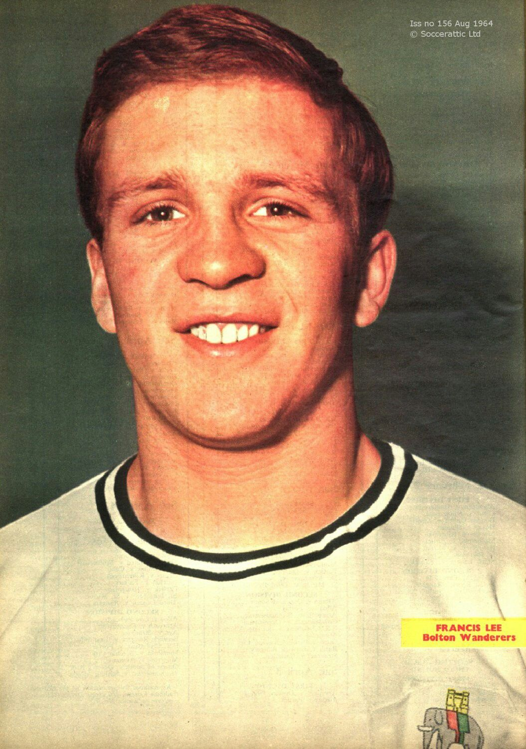 Francis Lee of Bolton Wanderers in 1967