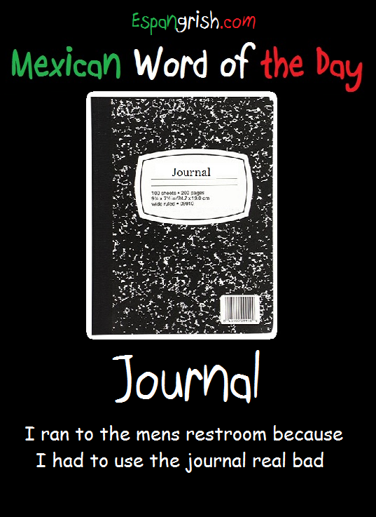 Tags journal , mexican word of the day , Mexican wotd
