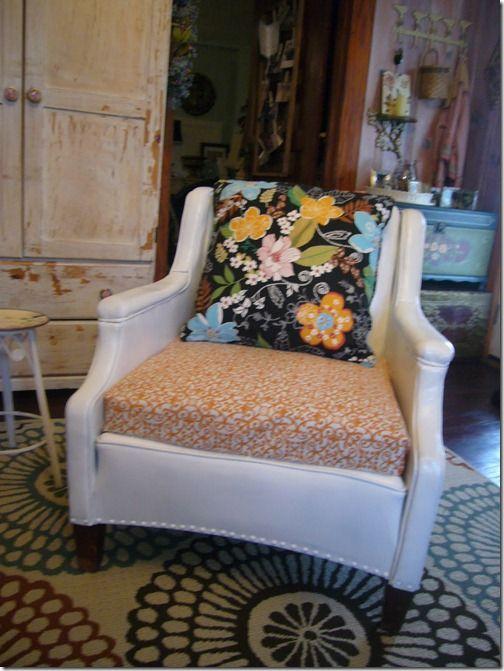 Spray Painted Vinyl Chair