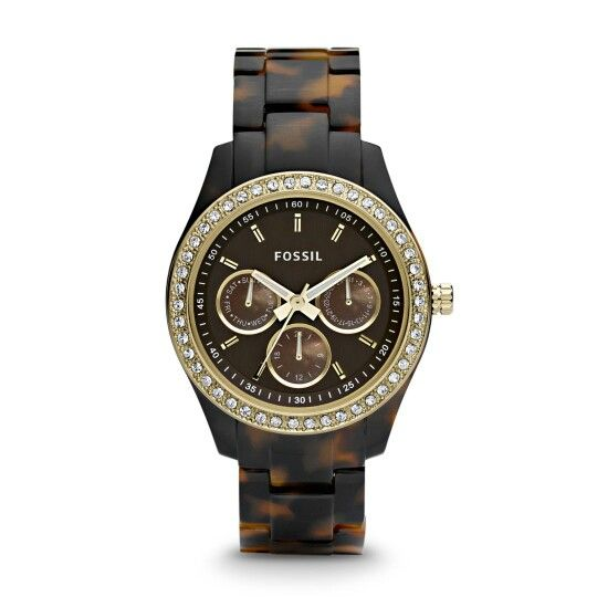 FOSSIL - STELLA MULTIFUNCTION RESIN WATCH - TORT WITH GOLD-TONE