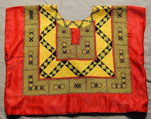 Tehuana Huipil in Red | El Vestido Mexicano | Pinterest