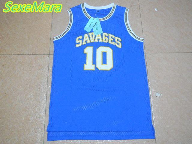 2017 SexeMara Mens Dennis Rodman Basketball Jerseys Rodman 10 OKLAHOMA  SAVAGES College Basketball Jersey Stitched Blue 767f95ec9