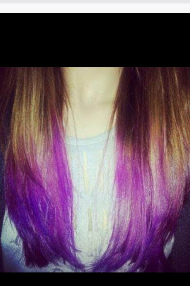 Kool Aid Dye Tips Dip Dye Hair Purple Hair Tips