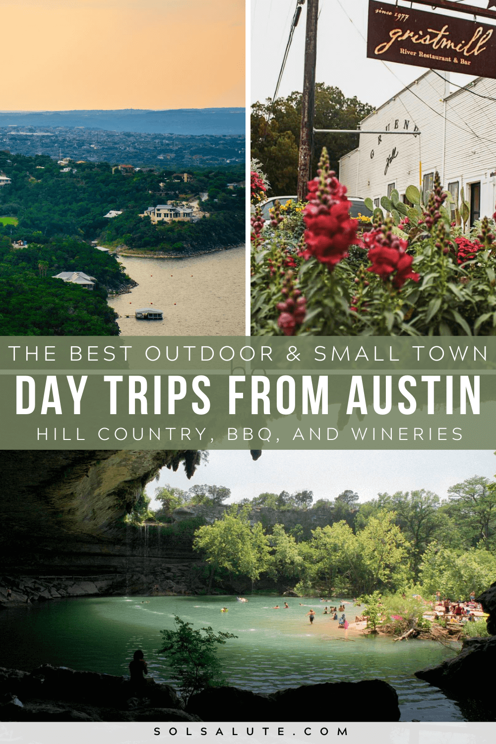 The Best Day Trips From Austin Texas Sol Salute In 2020 Day Trips Travel Usa Usa Travel Destinations