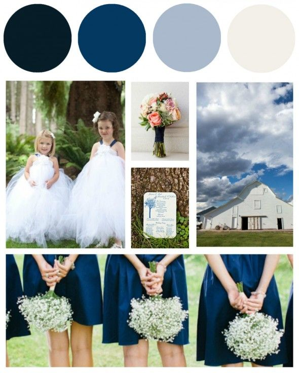 White And Blue Wedding Ideas: Blue & White Wedding Colors - Preppy Wedding Style