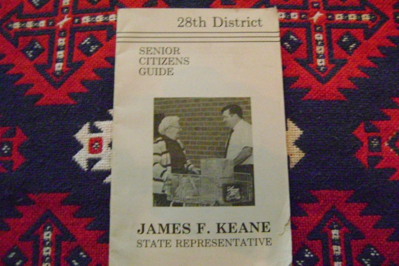 James F. Keane Pamphlet (State Rep.)1986