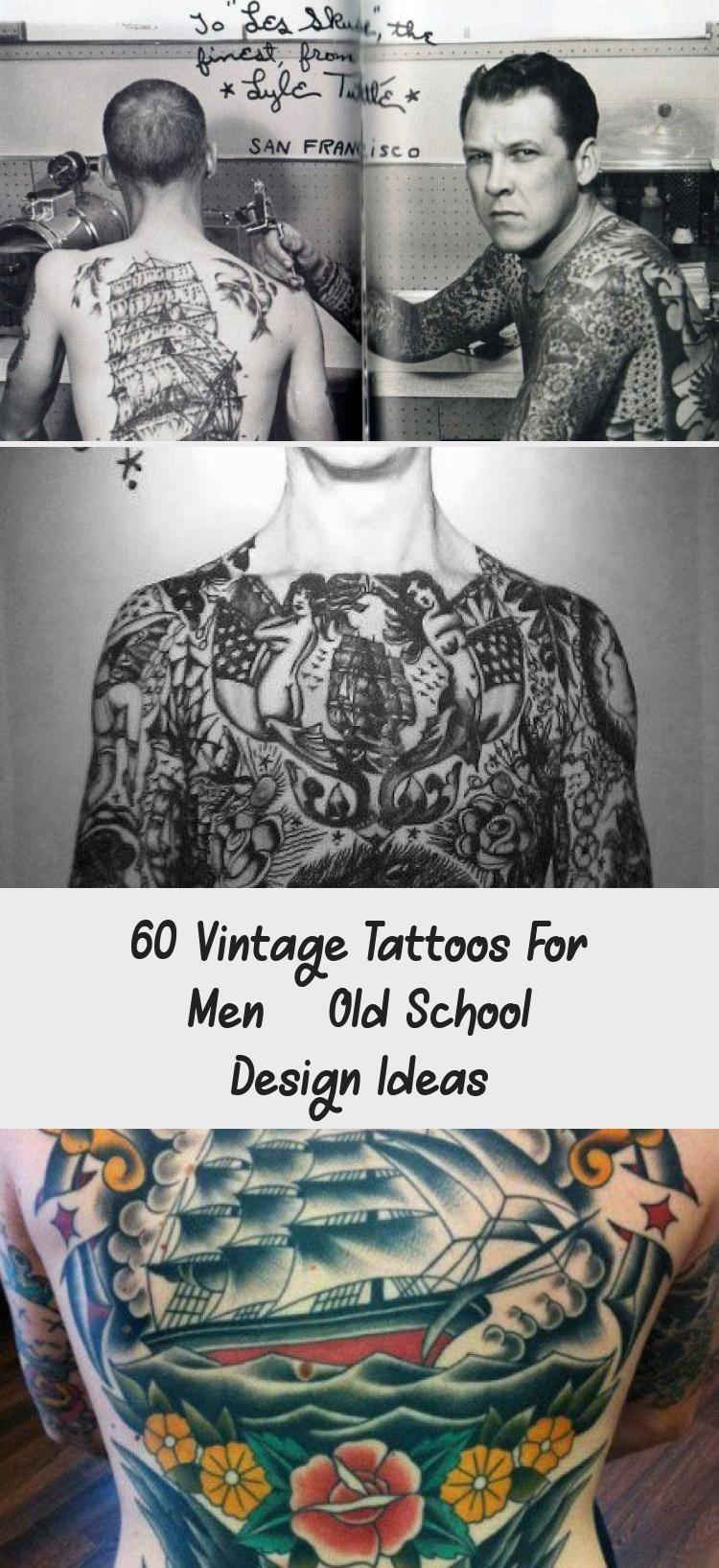 60 Vintage Tattoos For Men - Old School Design Ideas
