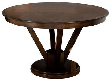 Jofran Webber Walnut 53 Inch Round Dining Table ...