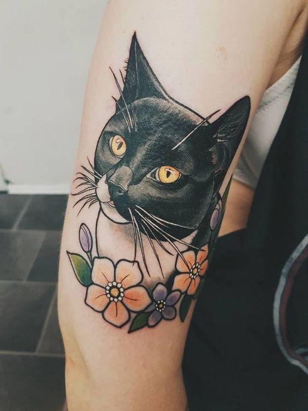 75 sch ne katze tattoos f r frauen cat handgelenk gato. Black Bedroom Furniture Sets. Home Design Ideas