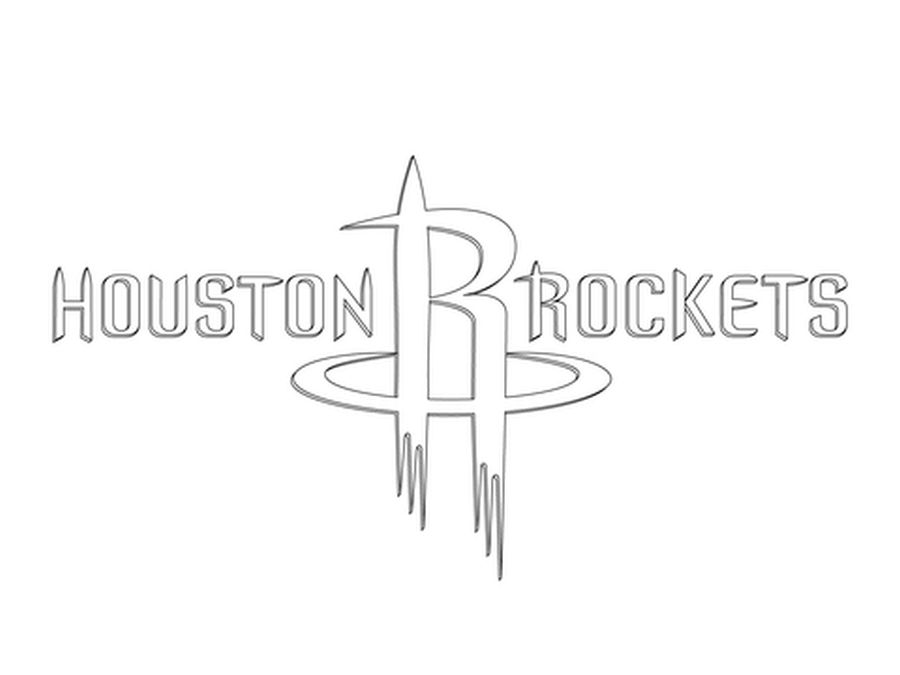 Houston Rockets logo NBA coloring pages | Sports Coloring Pages ...