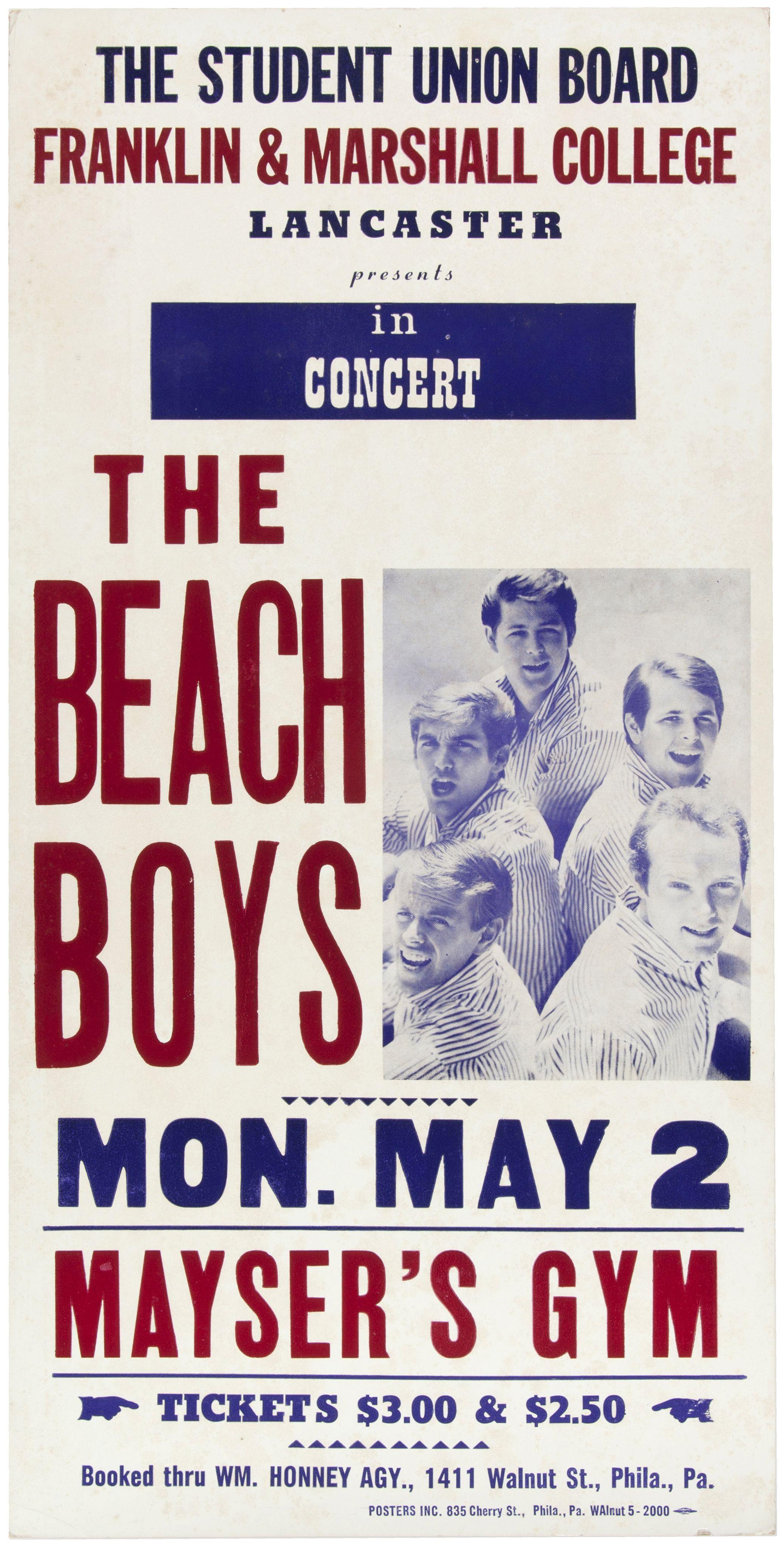 Hake 39 S The Beach Boys 1966 Concert Poster The Beach Boys