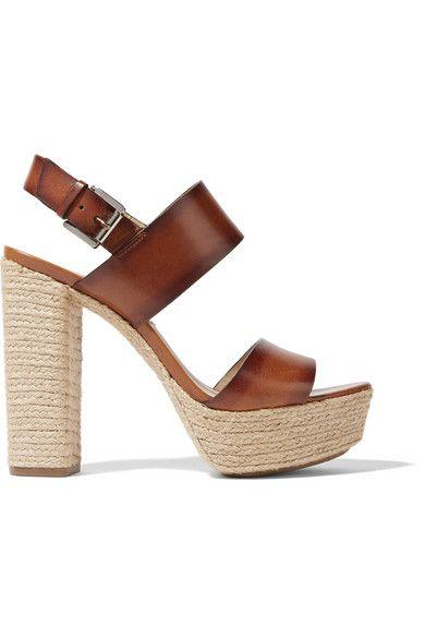 8686642cbd1 MICHAEL KORS Summer Leather Espadrille Platform Sandals.  michaelkors  shoes   sandals