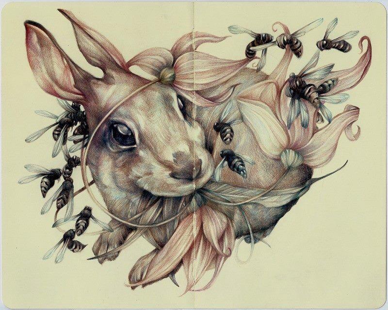 Рисунок необычные животные
