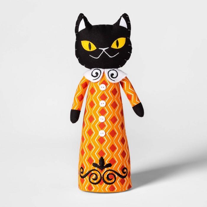 Standing Cat Character Halloween Fabric Figure Hyde
