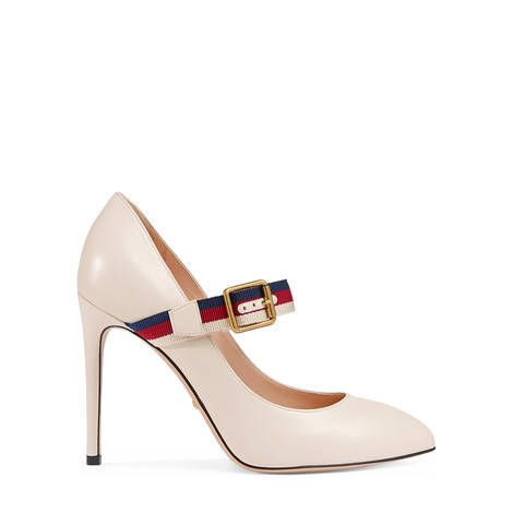 25897c0bb7 Décolleté Sylvie in pelle GUCCI | Shoe Queen in 2019 | Gucci shoes ...