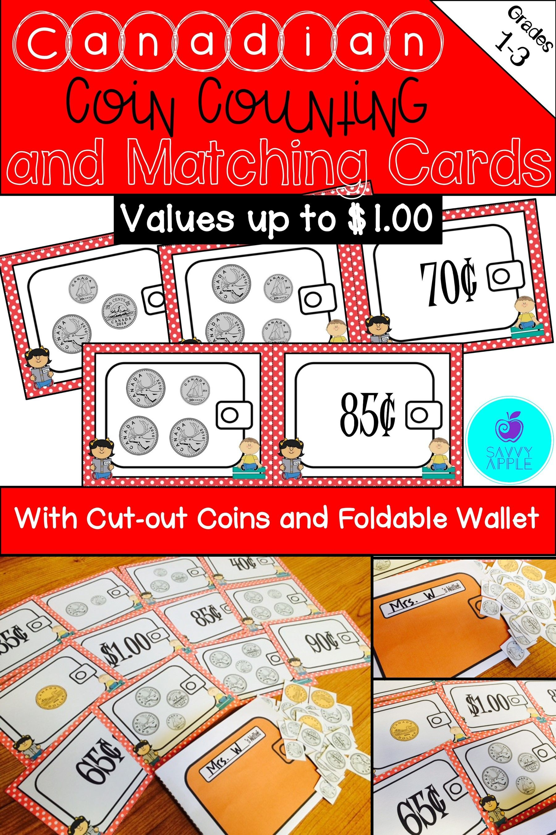 Canadian Coin Counting Activity