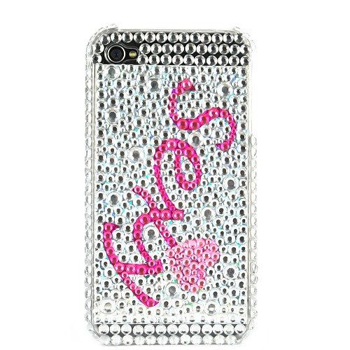 Sexy Diamond Rhinestone Bling Hard Case for iPhone 4 (Silver / Pink). $15.99, via Etsy.
