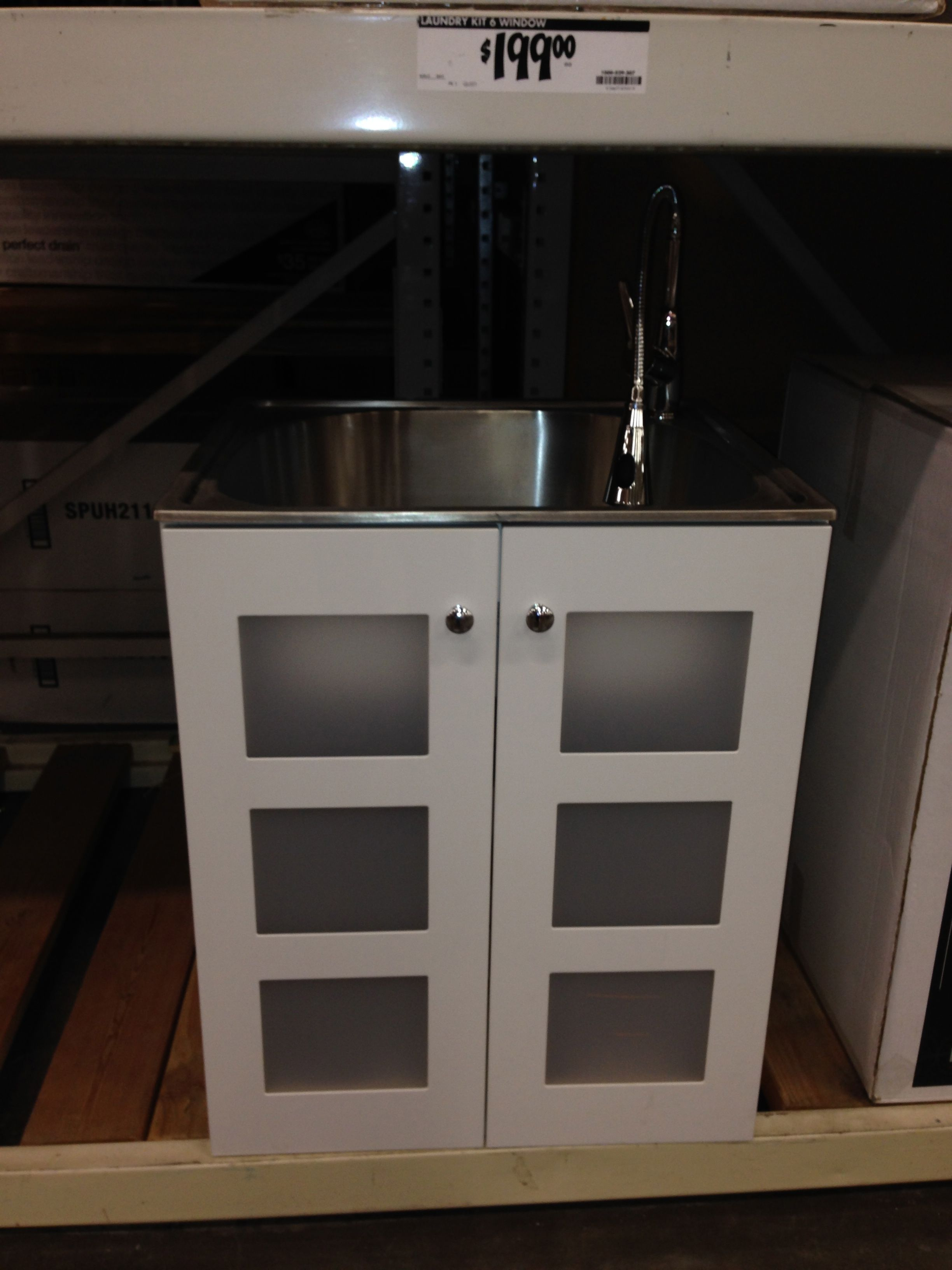 base cabinet with deep stainless sink and faucet 6 windows at