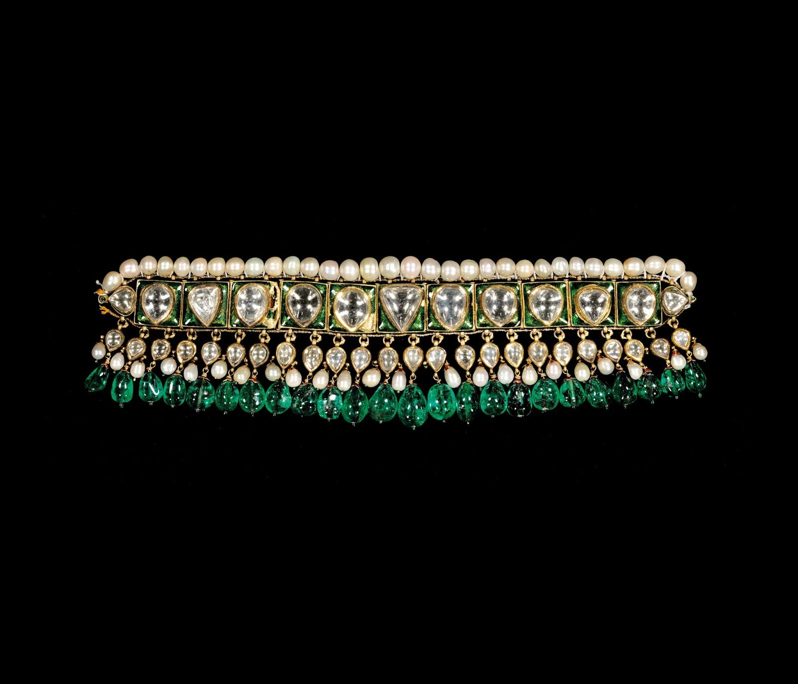 Choker necklace (chintak); probably Hyderabad, late 18th-early ...